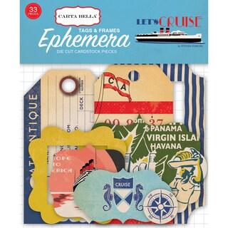Let's Cruise Ephemera Cardstock Die-Cuts-Frames & Tags
