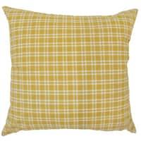 """Damond Plaid 22"""" x 22"""" Down Feather Throw Pillow Yellow"""
