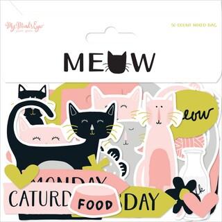Meow Mixed Bag Cardstock Die-Cuts 50/Pkg-