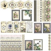 Ultimate Crafts Rambling Rose Ephemera Die-Cuts-