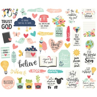 Faith Bits & Pieces Die-Cuts 44/pkg-