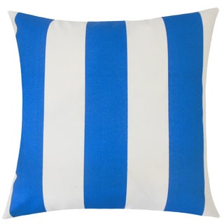 Kanha Striped 22-inch Down Feather Throw Pillow Cobalt