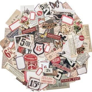Idea-Ology Ephemera Pack 111/Pkg-Snippets Tiny Die-Cuts