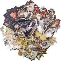 "Idea-Ology Layers Die-Cuts 83/Pkg-Botanical .75""X1"" To 6.5""X2"""
