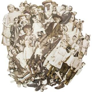 "Idea-Ology Paper Dolls Die-Cuts 107/Pkg-Vintage Black & White .75"" To 5.5"""