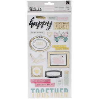 """Maggie Holmes Chasing Dreams Thickers Stickers 5.5""""X11"""" 2/Pk-Accents/Chipboard With Gold Foil"""