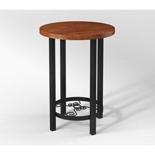 Artesian Wood/ Metal Scroll 20-inch W Round End Table