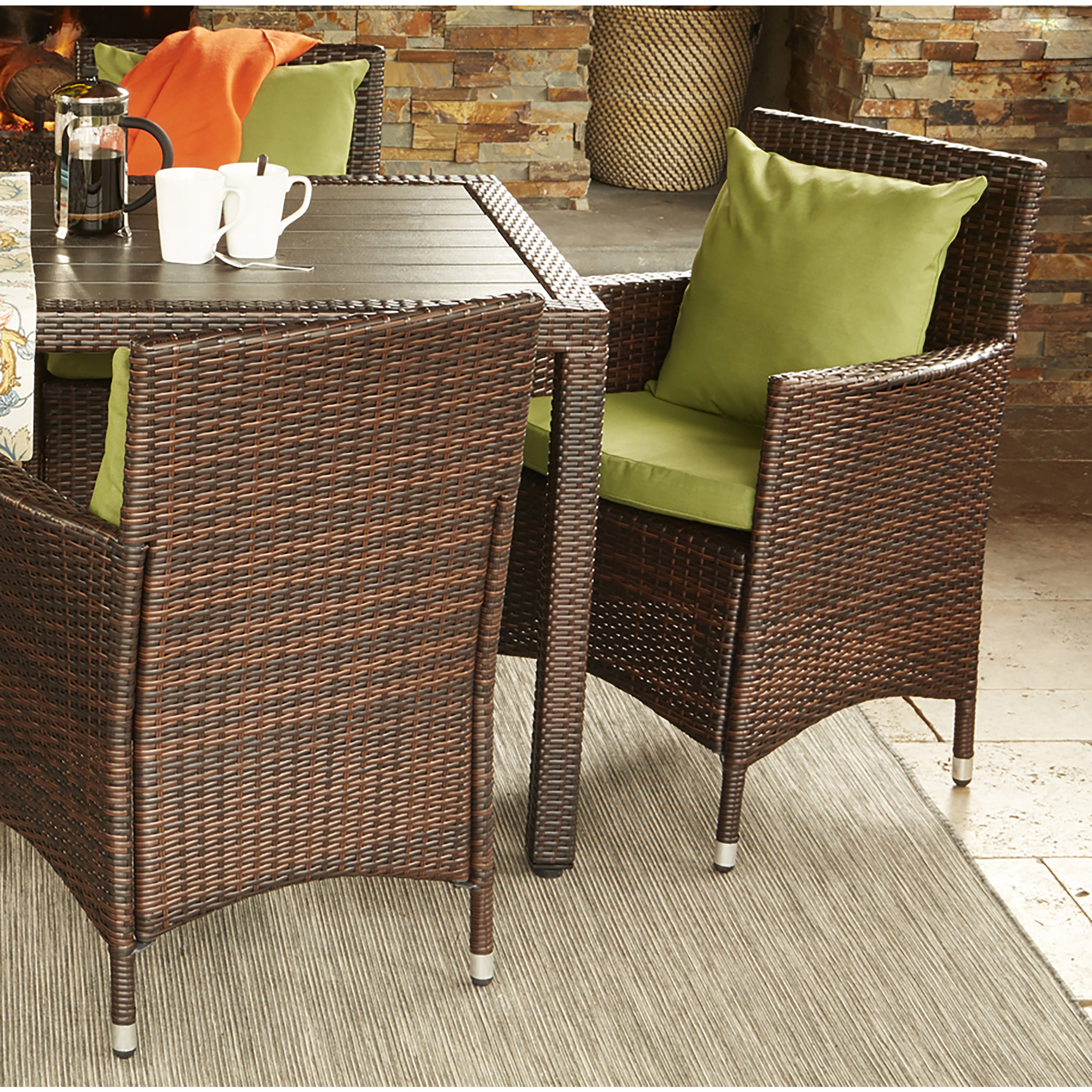 Handy Living Aldrich Indoor/ Outdoor 2-piece Rattan Arm C...