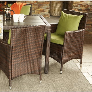 Handy Living Aldrich Indoor/ Outdoor 2-piece Rattan Arm Chairs with Sunbrella Cilantro Cushions