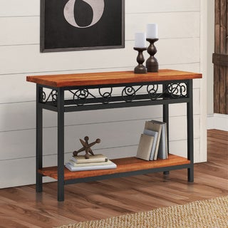 Artesian Wood/ Metal Scroll 42-inch W Console Table