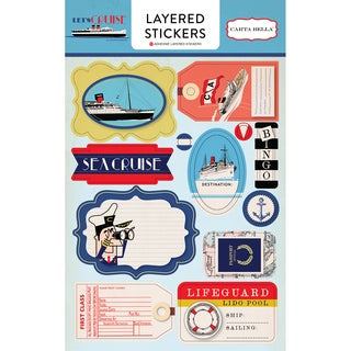Let's Cruise Layered Stickers-