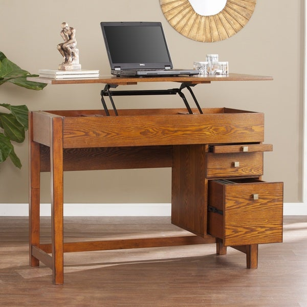 Harper Blvd Ellenda Midcentury Adjustable Height Desk - Salem OaK