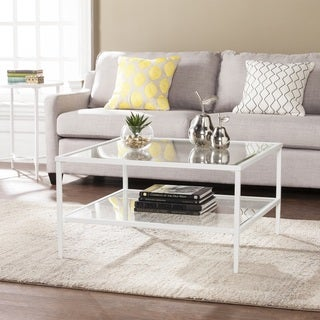 Harper Blvd Kolder Square Metal/Glass Open Shelf Cocktail Table - White