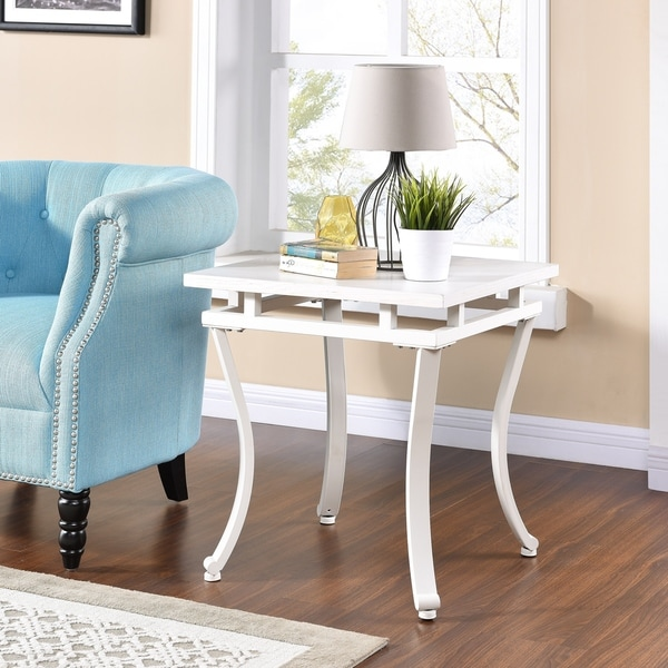 Harper Blvd Edgemore Square End Table - Antique White