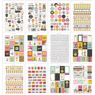 Carpe Diem Emoji Love Stickers A5 12/Pkg-