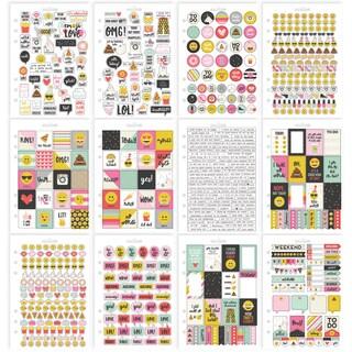 Carpe Diem Emoji Love Stickers A5 12/Pkg-