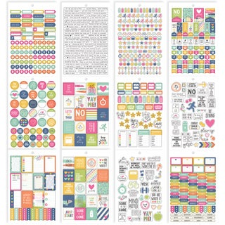 Carpe Diem Fitness Stickers A5 12/Pkg-