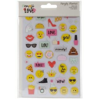 "Emoji Love Clear Stickers 4""X6"" 3/Pkg-Multi Color"