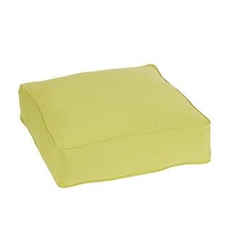 Easson Pear Green Indoor/ Outdoor 26 Inch Corded Floor Pouf