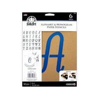 "Plaid Folkart Stencil Paper Alphabet Italic 6"""