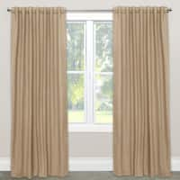 Skyline Window Curtain Panel in Linen Sandstone