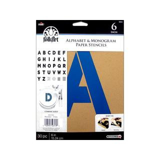 "Plaid Folkart Stencil Paper Alphabet Bold 6"""