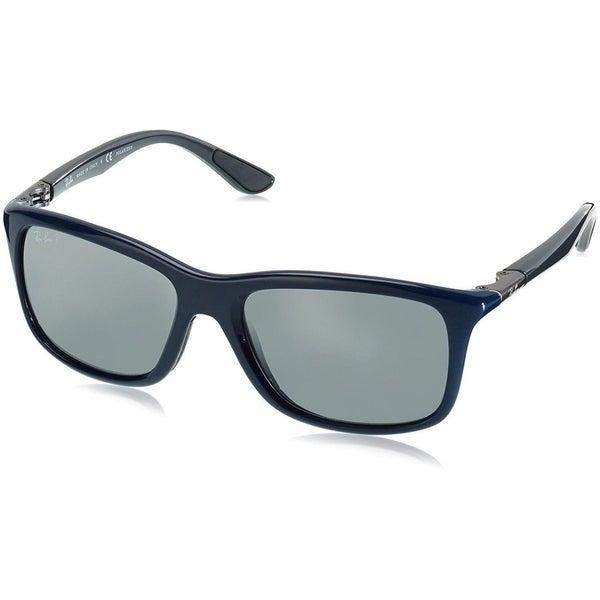 6812a6aa8c Shop Ray-Ban RB8352 622282 Men s Blue Grey Frame Polarized Silver ...
