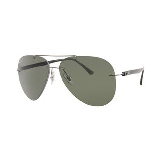 Ray-Ban RB8058 004/9A Men's Rimless Rimless Polarized Green Lens Sunglasses