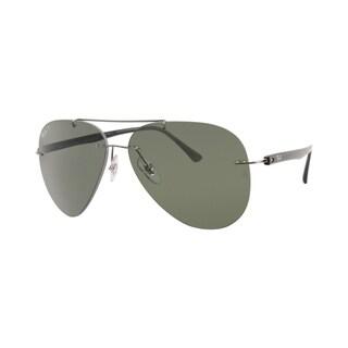 Ray-Ban RB8058 004/9A Men's Rimless Rimless Polarized Green Lens Sunglasses