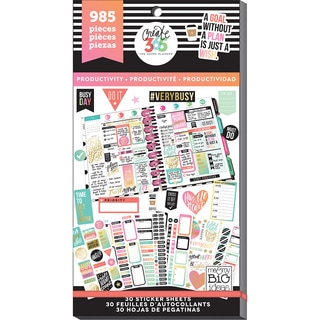 Create 365 Happy Planner Sticker Value Pack-Productivity