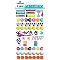 "Paper House Life Organized Planner Stickers 4.5""X7.5"" 4/Pkg-Girl Sports"