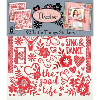 """Dazzles Stickers 7.75""""X9"""" 2/Pkg-Little Things"""