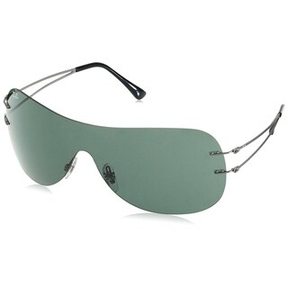 Ray-Ban RB8057 Unisex Rimless Green Classic Single Lens Sunglasses