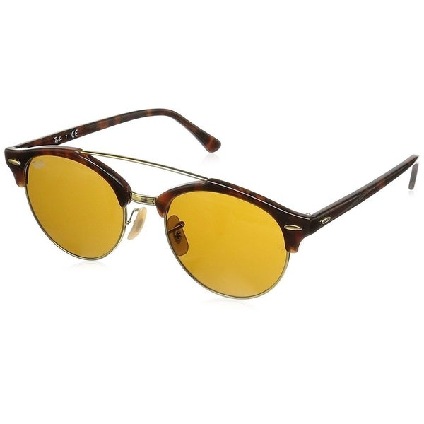 3a6d77e4f9 Ray-Ban Clubround Double Bridge RB4346 Men  x27 s Tortoise Frame Brown Lens