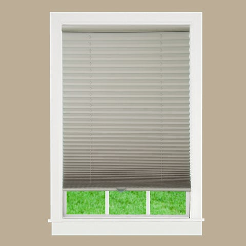 Taupe Fabric Cordless Pleated Shade