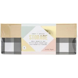 Desktop Storage Magnetic Box-Small Black/White Stripes