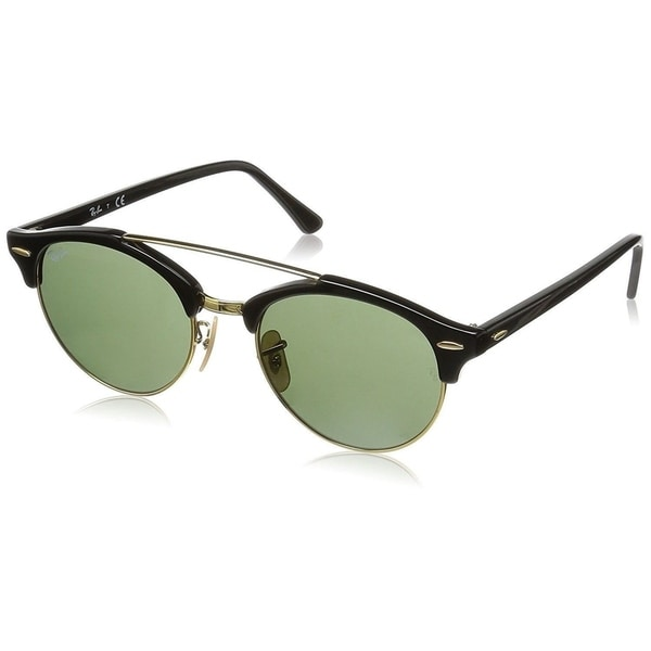 d9c937f864f04 Ray-Ban Clubround Double Bridge RB4346 901 Men  x27 s Black Frame Green