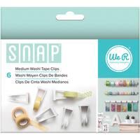 Snap Storage Washi Tape Clips 6/Pkg-Medium