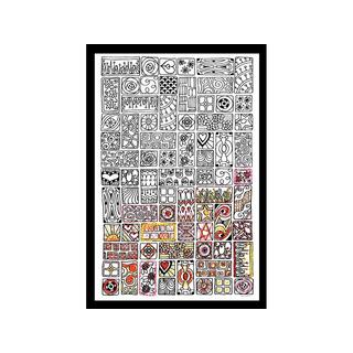 Design Works Zenbroidery Fabric 10x16 Cubist