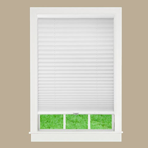 White Fabric Cordless Pleated Shade