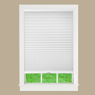 White Fabric Cordless Pleated Shade - 48 x 72