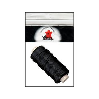 LF Braided Cord Waxed 25yd Black