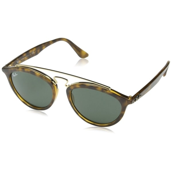 5cf9093592 Shop Ray-Ban Gatsby II RB4257 710 71 Women s Tortoise Frame Green ...