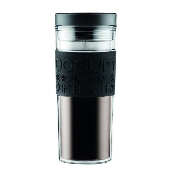 afe9c865f5 Shop Bodum Acrylic Travel Mug with Radial Lid, 0.45 L/15 oz, Black - Free  Shipping On Orders Over $45 - Overstock - 15287405