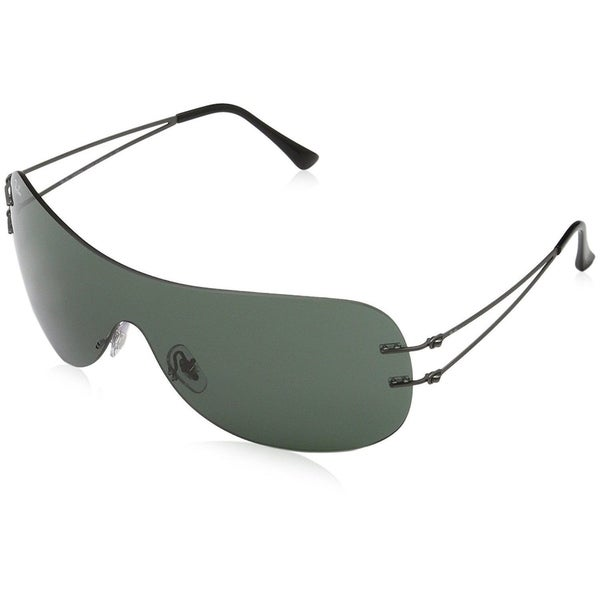 585cde679e Shop Ray-Ban RB8057 Unisex Rimless Green Classic Single Lens Sunglasses -  Free Shipping Today - Overstock - 15287533