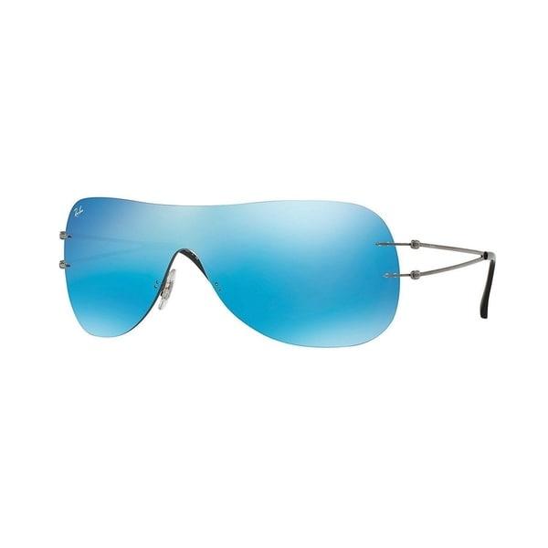 b9a284754e1 Shop Ray-Ban RB8057 004 55 Unisex Rimless Blue Mirror Single Lens Sunglasses  - Free Shipping Today - Overstock - 15287604