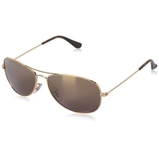 Ray-Ban Chromance RB3562 001/6B Men's Gold Frame Purple Mirror Polarized 59mm Lens Sunglasses