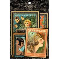"""Vintage Hollywood Journaling & Ephemera Cards-(16) 4""""X6"""" & (16) 3""""X4"""""""