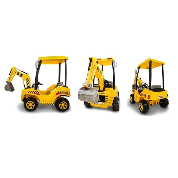 Yellow Rechargable 12V Construction Truck Toy