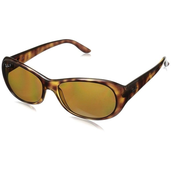 e679c655a6c Shop Ray-Ban RB4061 642 57 Women s Tortoise Frame Polarized Brown ...